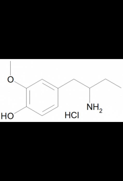 1-(4-Hydroxy-3-methoxyphenyl)-2-aminobutane hydrochloride