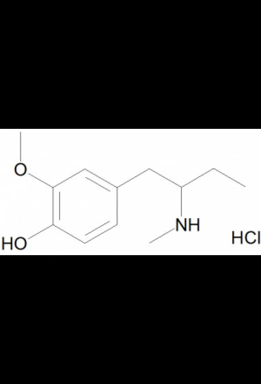 N-Methyl-1-(4-hydroxy-3-methoxyphenyl)-2-aminobutane hydrochloride