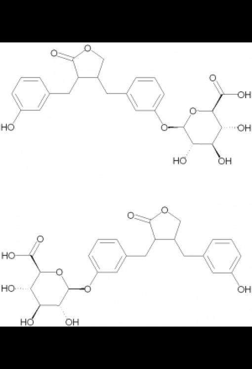 (+/-)-Enterolactone mono-beta-D-glucuronide, mixture of regiosisomers